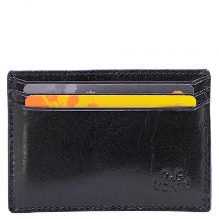 Korthållare Svart skinn RFID säker