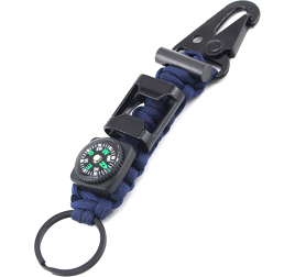 Nyckelring Överlevnad med Paracord och kompass