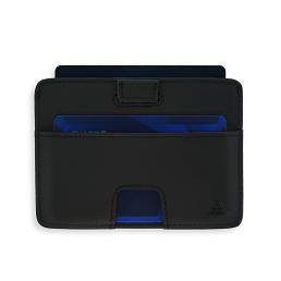 Korthållare i svart skinn RFID säker