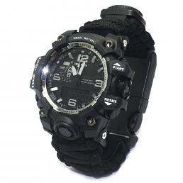 Överlevnads Klocka med paracord armband