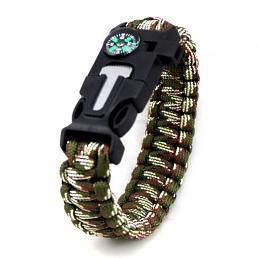 Överlevnads Armband Paracord camo